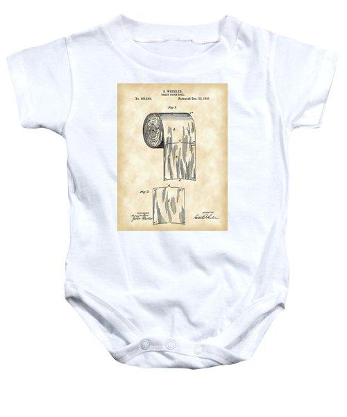 Toilet Paper Roll Patent 1891 - Vintage Baby Onesie