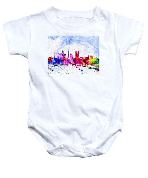 Tokyo Watercolor Baby Onesie