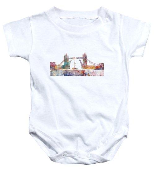 Tower Bridge Colorsplash Baby Onesie by Aimee Stewart