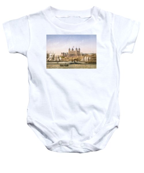 Tower Of London, 1862 Baby Onesie by Achille-Louis Martinet