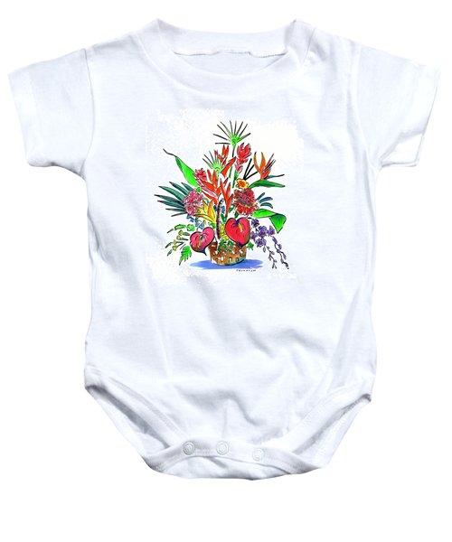 Tropical Basket Baby Onesie