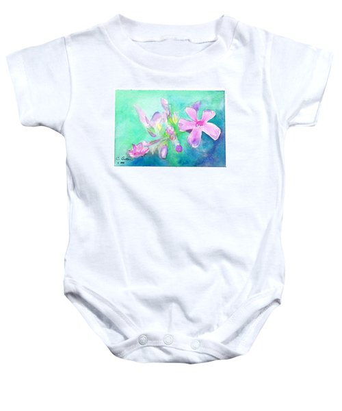 Tropical Flowers Baby Onesie