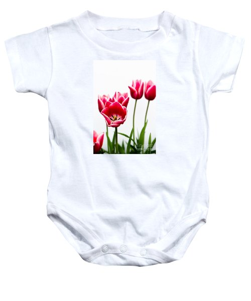 Tulips Say Hello Baby Onesie