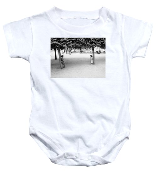 Two Kids In Paris Baby Onesie