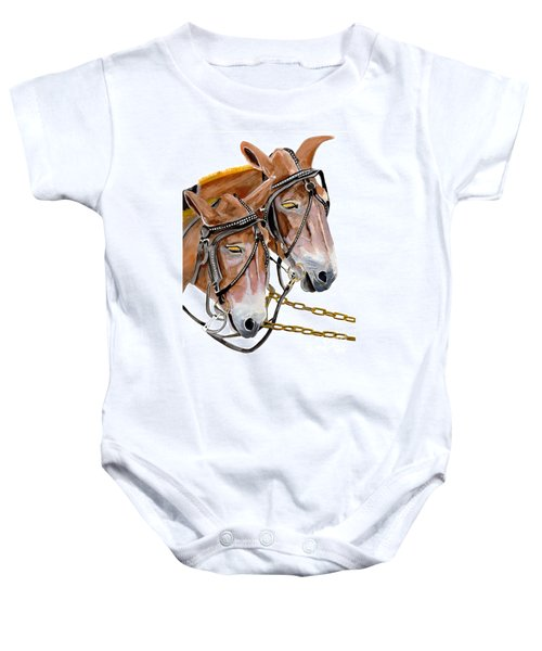Two Mules - Enhanced Color - Farmer's Friend Baby Onesie