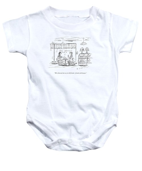 Two Women Chat Over Coffee Baby Onesie