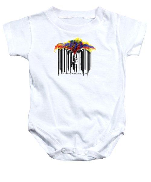 Unzip The Colour Code Baby Onesie