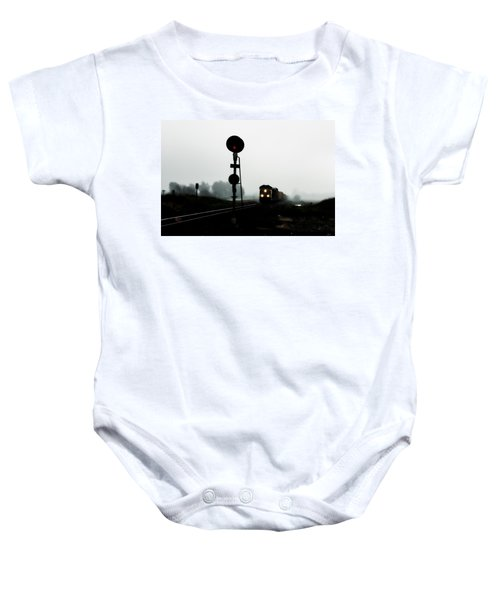 Baby Onesie featuring the photograph Up 8057 by Jim Thompson