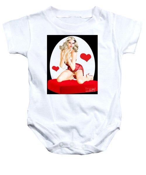 Valentines Pin-up Baby Onesie