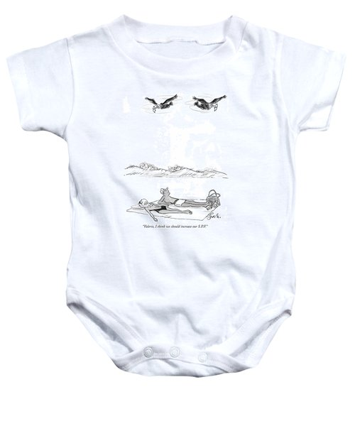 Valerie, I Think We Should Increase Our S.p.f Baby Onesie by Edward Frascino