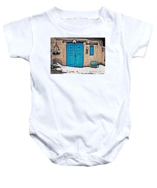 Very Blue Door Baby Onesie