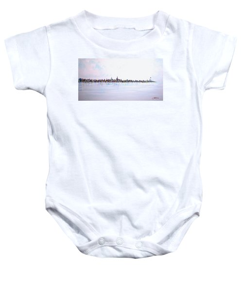 View From The Hudson Baby Onesie