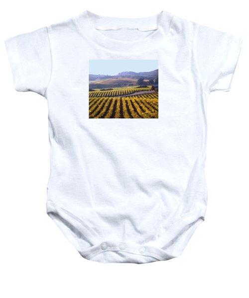 6b6386-vineyard In Autumn Baby Onesie