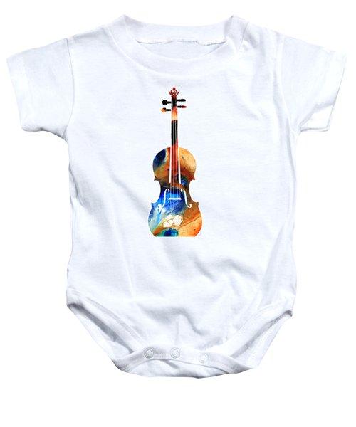 Violin Art By Sharon Cummings Baby Onesie