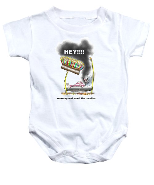 Smell The Candles Baby Onesie