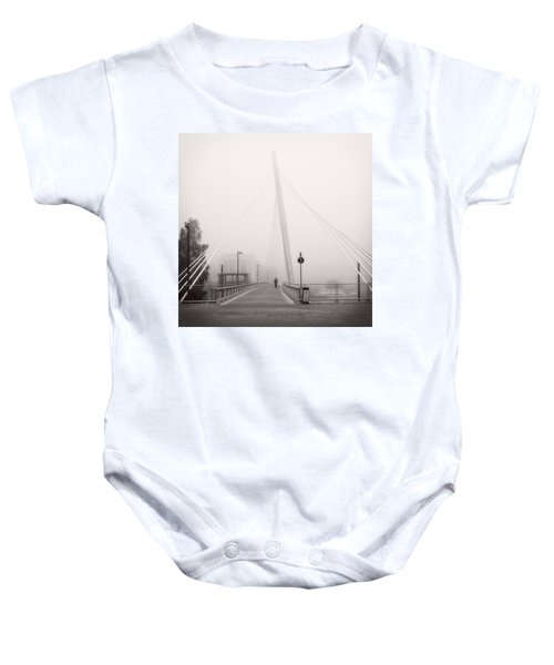 Walking Through The Mist Baby Onesie