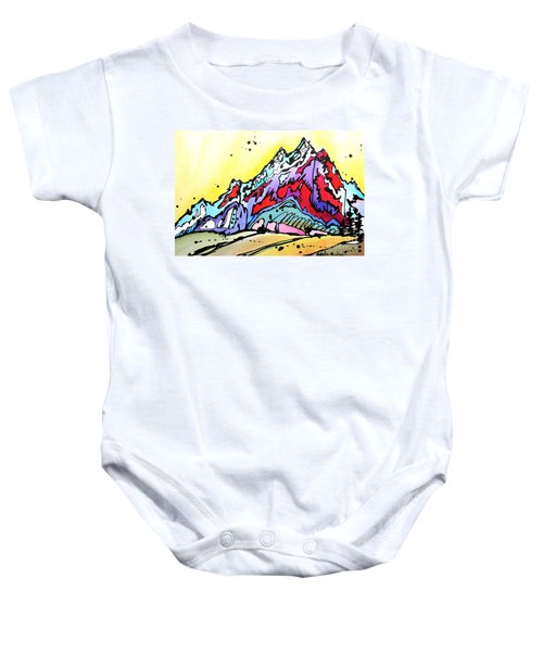 Waning Seasons In The Tetons Baby Onesie