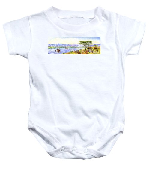 Water Village Baby Onesie