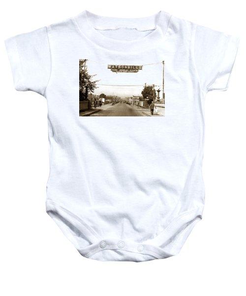 Watsonville California  The Apple City Circa 1926 Baby Onesie