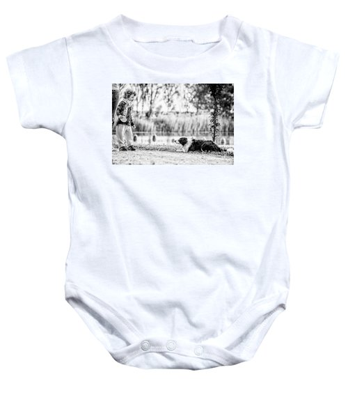 We Live As We Dream Baby Onesie