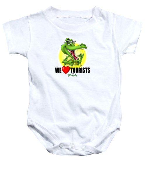 We Love Tourists Gator Baby Onesie