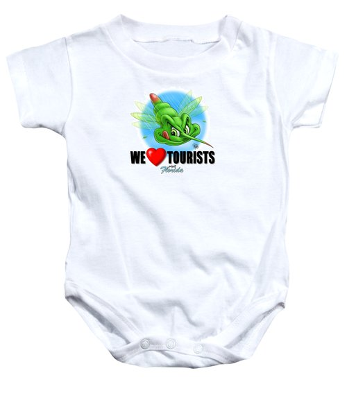 We Love Tourists Mosquito Baby Onesie