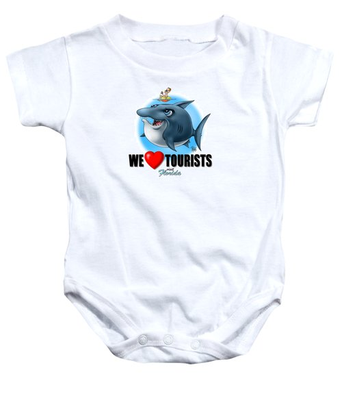 We Love Tourists Shark Baby Onesie