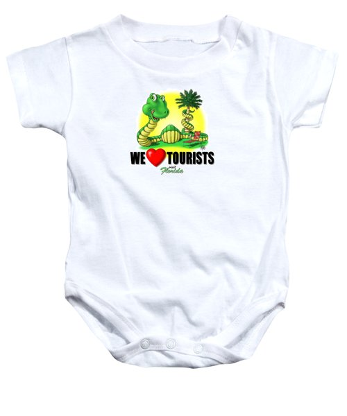 We Love Tourists Snake Baby Onesie