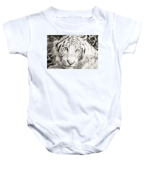 Baby Onesie featuring the photograph White Tiger by Vincent Bonafede