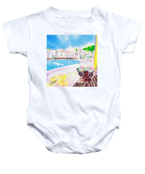 White And Blue 2 Baby Onesie