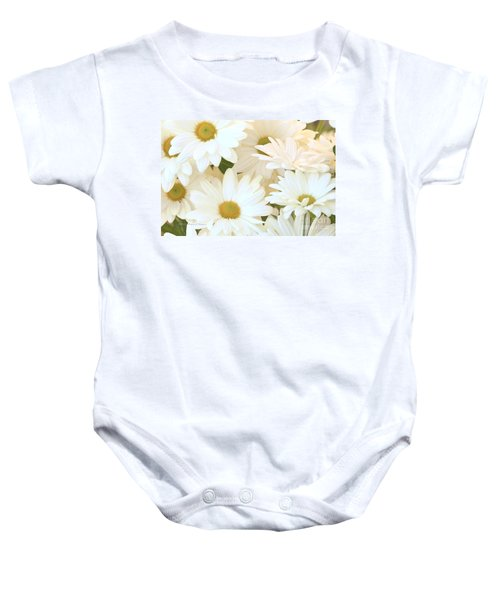 White Chrysanthemums Baby Onesie