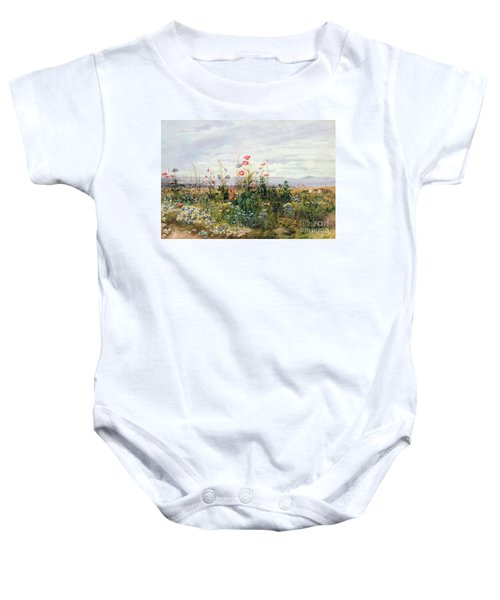 Wildflowers With A View Of Dublin Dunleary Baby Onesie