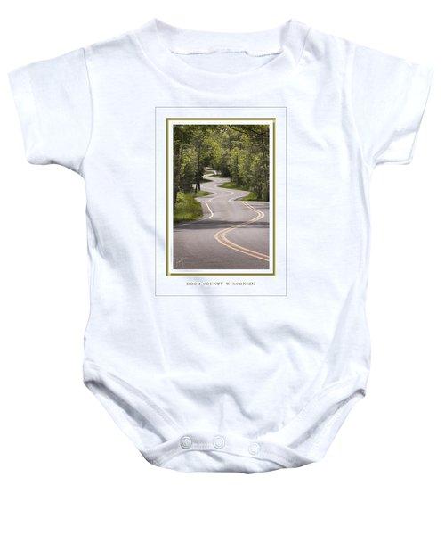 Winding Road Door County Baby Onesie