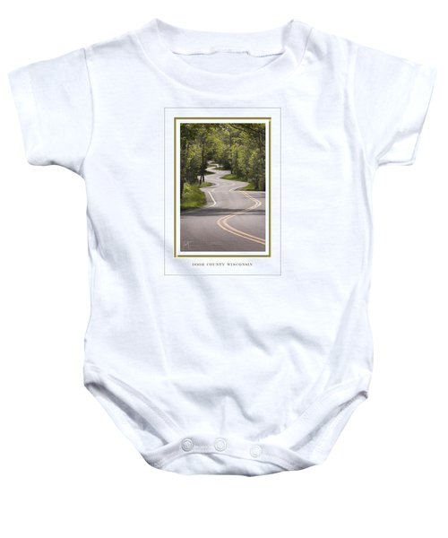 Winding Road Door County Baby Onesie
