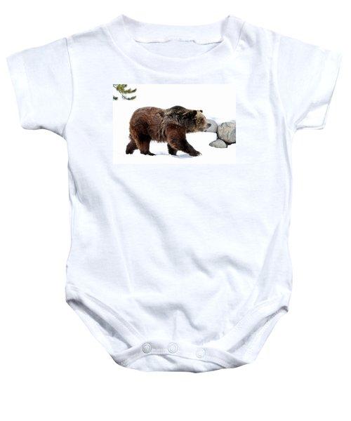 Winter Bear Walk Baby Onesie