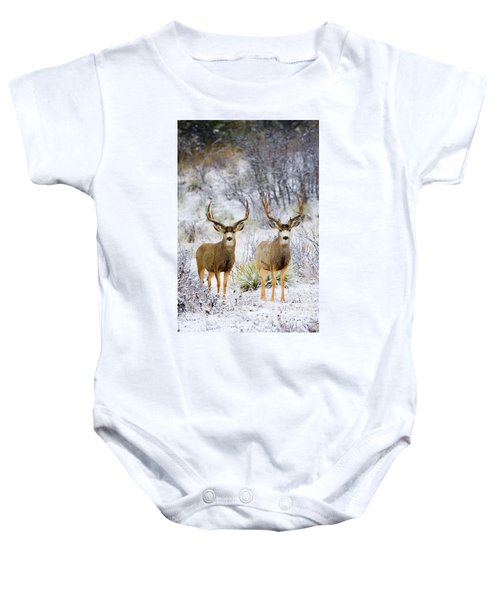 Winter Bucks Baby Onesie