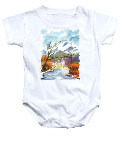 Wintry Reflections Baby Onesie