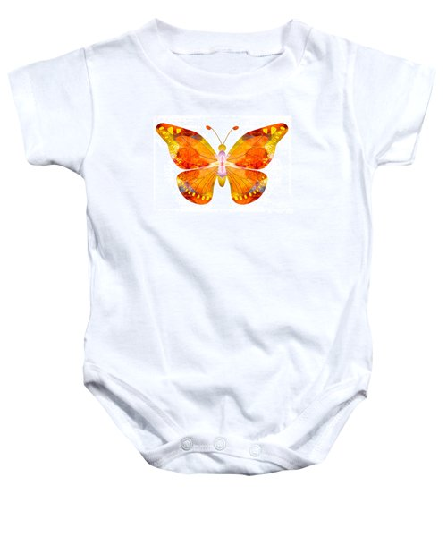 Wisdom And Flight Abstract Butterfly Art By Omaste Witkowski Baby Onesie