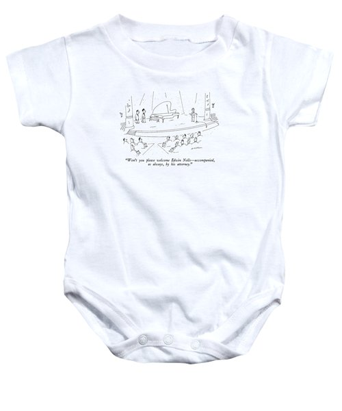Won't You Please Welcome Edwin Nells - Baby Onesie