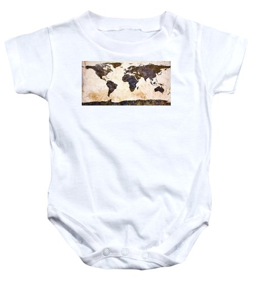 World Map Abstract Baby Onesie