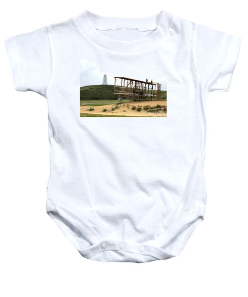 Wright Brothers Memorial At Kitty Hawk Baby Onesie