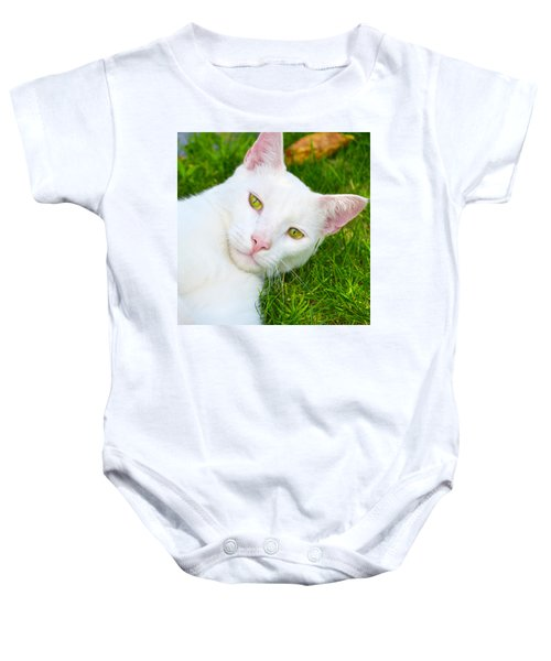 Yellow Eyes Baby Onesie