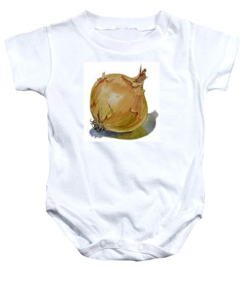 Yellow Onion Baby Onesie