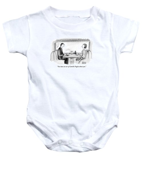 You Have An Air Of Camille Paglia About You Baby Onesie
