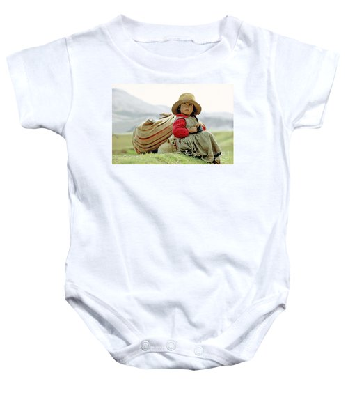 Young Girl In Peru Baby Onesie