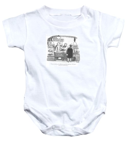 You're Thinking Of A Different Cut Baby Onesie