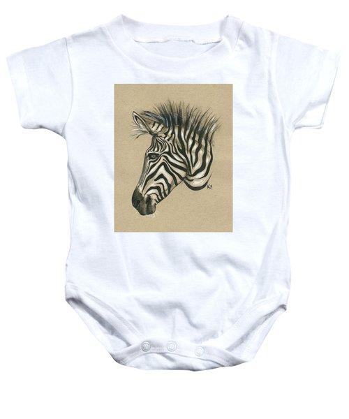 Zebra Profile Baby Onesie