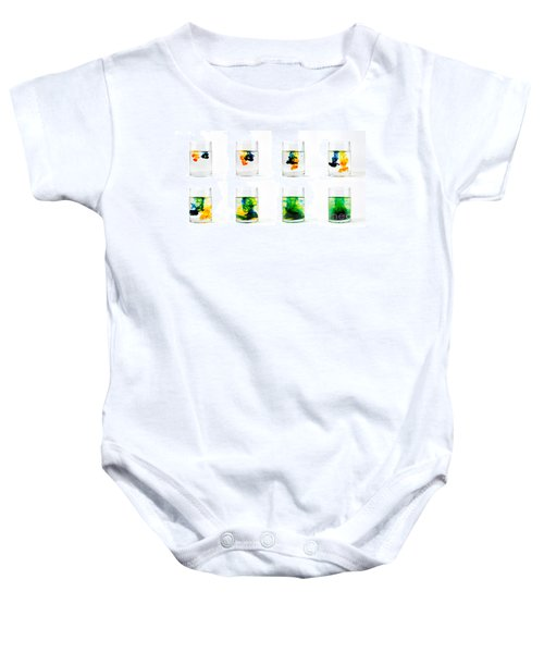 Yellow And Blue Become Green Baby Onesie