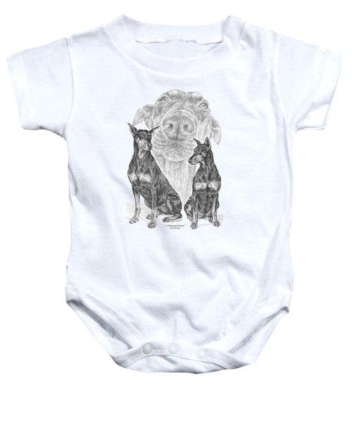 A Doberman Knows - Dobe Pinscher Art Print Baby Onesie