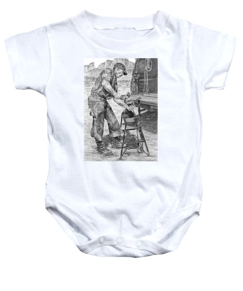 A Man And His Trade - Farrier Art Print Baby Onesie
